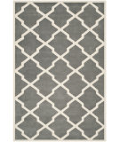 RugStudio presents Safavieh Chatham CHT735D Dark Grey / Ivory Area Rug