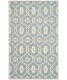 RugStudio presents Safavieh Chatham Cht745b Blue / Ivory Hand-Tufted, Better Quality Area Rug