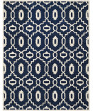RugStudio presents Safavieh Chatham Cht745c Dark Blue / Ivory Hand-Tufted, Better Quality Area Rug