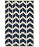 RugStudio presents Safavieh Chatham Cht746c Dark Blue / Ivory Hand-Tufted, Better Quality Area Rug