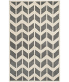RugStudio presents Safavieh Chatham Cht746d Dark Grey / Ivory Hand-Tufted, Better Quality Area Rug