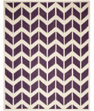 RugStudio presents Safavieh Chatham Cht746f Purple / Ivory Hand-Tufted, Better Quality Area Rug
