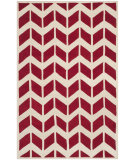 RugStudio presents Safavieh Chatham Cht746g Red / Ivory Hand-Tufted, Better Quality Area Rug