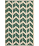 RugStudio presents Safavieh Chatham Cht746t Teal / Ivory Hand-Tufted, Better Quality Area Rug