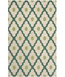 RugStudio presents Safavieh Chatham Cht748v Ivory / Teal Hand-Tufted, Better Quality Area Rug