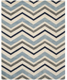 RugStudio presents Safavieh Chatham Cht749x Ivory / Dark Grey Hand-Tufted, Better Quality Area Rug
