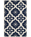 RugStudio presents Safavieh Chatham Cht751c Dark Blue / Ivory Hand-Tufted, Better Quality Area Rug