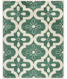 RugStudio presents Safavieh Chatham Cht751t Teal / Ivory Hand-Tufted, Better Quality Area Rug