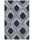 RugStudio presents Safavieh Chatham Cht758c Dark Blue - Ivory Hand-Tufted, Best Quality Area Rug