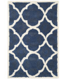 RugStudio presents Safavieh Chatham Cht821a Blue / Ivory Hand-Tufted, Better Quality Area Rug