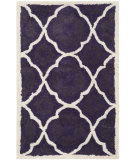RugStudio presents Safavieh Chatham Cht821b Purple / Ivory Hand-Tufted, Better Quality Area Rug