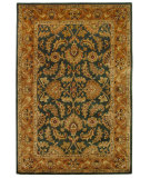 RugStudio presents Safavieh Classic CL228A Dark Green / Gold Hand-Tufted, Best Quality Area Rug