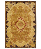 RugStudio presents Rugstudio Sample Sale 49683R Gold / Cola Hand-Tufted, Best Quality Area Rug