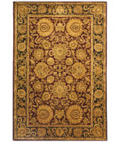 RugStudio presents Safavieh Classic CL244A Burgundy / Gold Hand-Tufted, Best Quality Area Rug