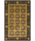 RugStudio presents Safavieh Classic CL301A Gold / Black Hand-Tufted, Best Quality Area Rug