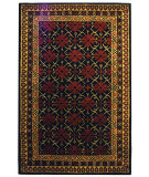 RugStudio presents Safavieh Classic CL303A Black / Dark Red Hand-Tufted, Best Quality Area Rug