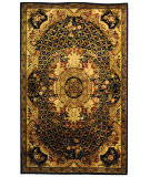 RugStudio presents Safavieh Classic CL304A Black / Gold Hand-Tufted, Best Quality Area Rug