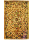 RugStudio presents Safavieh Classic CL304D Toupe / Light Green Hand-Tufted, Best Quality Area Rug