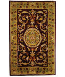 RugStudio presents Safavieh Classic CL840C Burgundy / Gold Hand-Tufted, Good Quality Area Rug