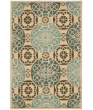 RugStudio presents Safavieh Capri Cpr353a Beige / Blue Hand-Tufted, Best Quality Area Rug
