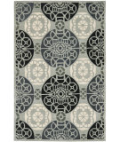 RugStudio presents Safavieh Capri Cpr353c Grey / Black Hand-Tufted, Best Quality Area Rug