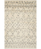 RugStudio presents Safavieh Casablanca Csb845a White / Grey Hand-Tufted, Best Quality Area Rug