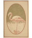 RugStudio presents Safavieh Coastal Living CSL1542 Natural / Green Machine Woven, Good Quality Area Rug