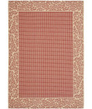 RugStudio presents Safavieh Courtyard Cy0727-3707 Red / Natural Machine Woven, Good Quality Area Rug