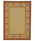 RugStudio presents Safavieh Courtyard Cy0901-3201 Natural / Terracotta Machine Woven, Good Quality Area Rug
