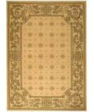 RugStudio presents Safavieh Courtyard Cy1356-1e01 Natural / Olive Machine Woven, Good Quality Area Rug