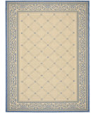 RugStudio presents Safavieh Courtyard Cy1502-3101 Natural / Blue Machine Woven, Good Quality Area Rug