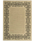 RugStudio presents Safavieh Courtyard Cy1588-3901 Sand / Black Machine Woven, Good Quality Area Rug