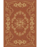 RugStudio presents Safavieh Courtyard Cy1893-3202 Terracotta / Natural Machine Woven, Good Quality Area Rug