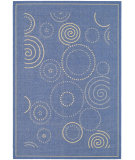 RugStudio presents Safavieh Courtyard Cy1906-3103 Blue / Natural Machine Woven, Good Quality Area Rug