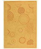 RugStudio presents Safavieh Courtyard Cy1906-3201 Natural / Terracotta Machine Woven, Good Quality Area Rug