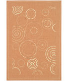 RugStudio presents Safavieh Courtyard Cy1906-3202 Terracotta / Natural Machine Woven, Good Quality Area Rug