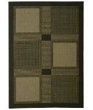 RugStudio presents Safavieh Courtyard Cy1928-3908 Black / Sand Machine Woven, Good Quality Area Rug