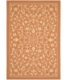 RugStudio presents Safavieh Courtyard Cy2098-3202 Terracotta / Natural Machine Woven, Good Quality Area Rug