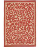 RugStudio presents Safavieh Courtyard Cy2098-3707 Red / Natural Machine Woven, Good Quality Area Rug