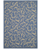 RugStudio presents Safavieh Courtyard Cy2653-3103 Blue / Natural Machine Woven, Good Quality Area Rug