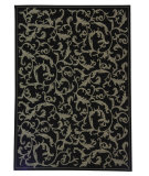RugStudio presents Safavieh Courtyard Cy2653-3908 Black / Sand Machine Woven, Good Quality Area Rug