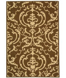 RugStudio presents Safavieh Courtyard Cy2663-3409 Chocolate / Natural Machine Woven, Good Quality Area Rug