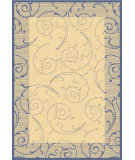 RugStudio presents Safavieh Courtyard Cy2665-3101 Natural / Blue Machine Woven, Good Quality Area Rug