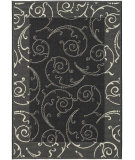 RugStudio presents Safavieh Courtyard Cy2665-3908 Black / Sand Machine Woven, Good Quality Area Rug
