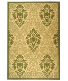 RugStudio presents Safavieh Courtyard Cy2714-1e01 Natural / Olive Machine Woven, Good Quality Area Rug