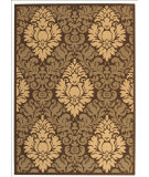 RugStudio presents Safavieh Courtyard Cy2714-3409 Chocolate / Natural Machine Woven, Good Quality Area Rug