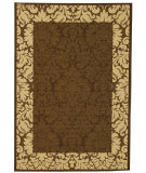 RugStudio presents Safavieh Courtyard Cy2727-3409 Chocolate / Natural Machine Woven, Good Quality Area Rug