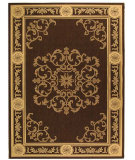RugStudio presents Safavieh Courtyard Cy2914-3409 Chocolate / Natural Machine Woven, Good Quality Area Rug