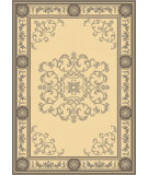 RugStudio presents Safavieh Courtyard Cy2914-3908 Black / Sand Machine Woven, Good Quality Area Rug