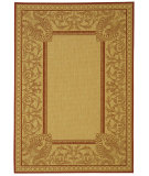 RugStudio presents Safavieh Courtyard Cy2965-3701 Natural / Red Machine Woven, Good Quality Area Rug